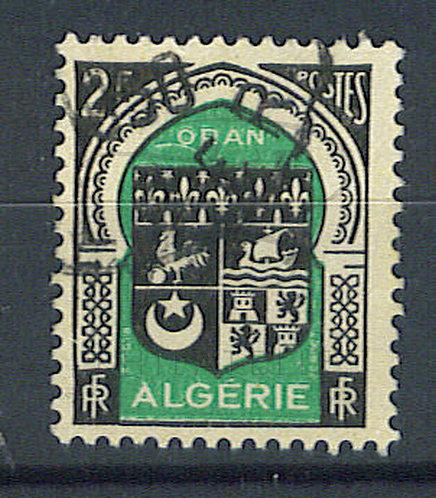 """Algérie n°259 , trait blanc sous le """"O"""" de """"ORAN"""""""