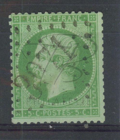France n°20a:vert foncé, G.C.2971 : Tonerre (b)