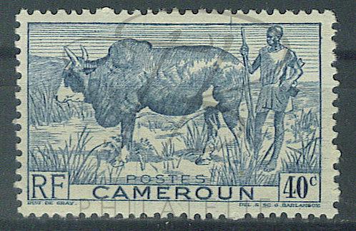 Cameroun n°278 , bleu-vert , *