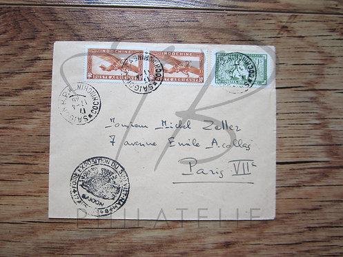 Indochine n°169+P.A. n°7 en paire , sur lettre