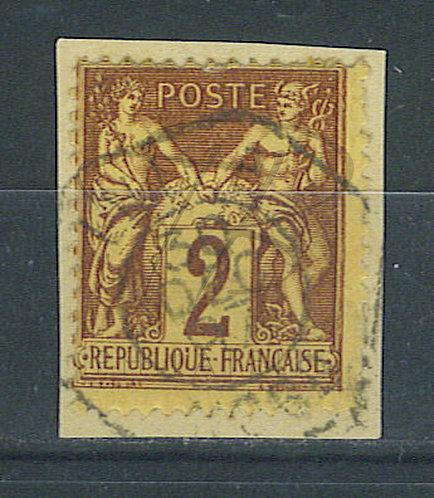 """France n°85 , cachet hexagonal """"LILLE B"""""""