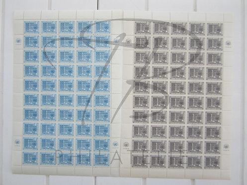 O.N.U. New-York n°80+81, en feuilles, **
