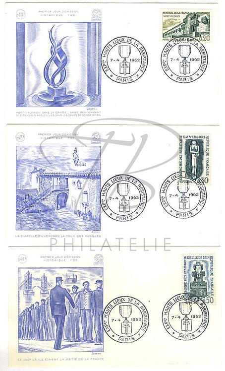 F.D.C. n°1335-1337