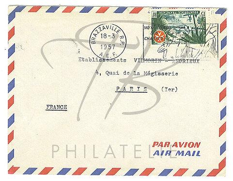 A.E.F n°237 seul sur lettre