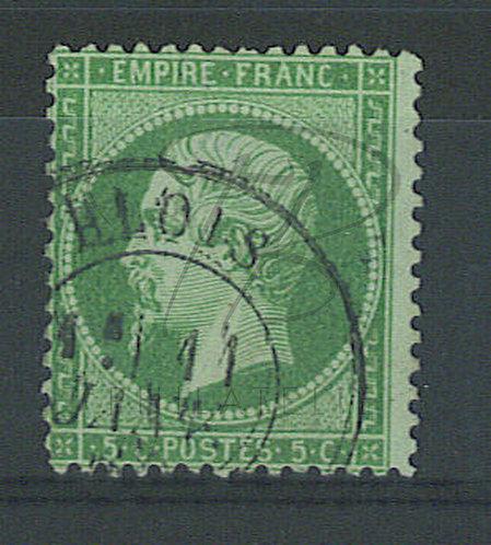 France n°20a , vert foncé , + petit