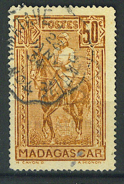 """Madagascar n°184 , """"TAMATAVE-TANANARIVE LN°4"""""""