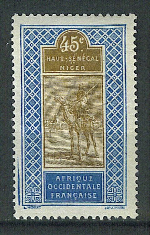 Haut-Sénégal et Niger n°29 , cadre doublé , *