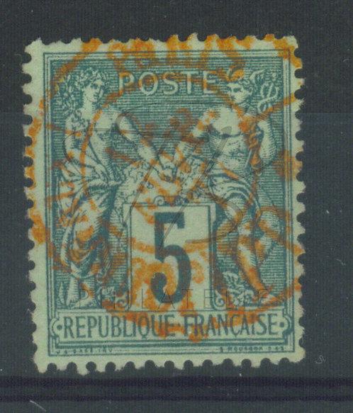 France n°75IIB, cachet rouge des journaux (c)