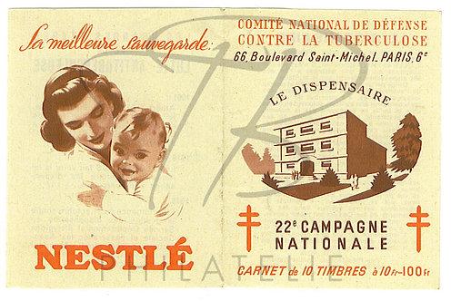 Carnet antituberculeux 1952