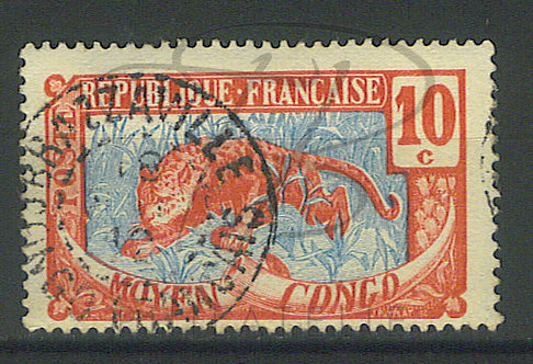"Congo n°52 , cachet ""BRAZZAVILLE"""