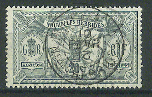 """Nouvelles-Hébrides n°29 , cachet """"PORT-VILA"""""""