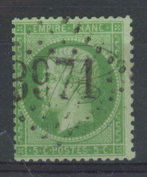 France n°20a:vert foncé, G.C.2971 : Tonerre (a)