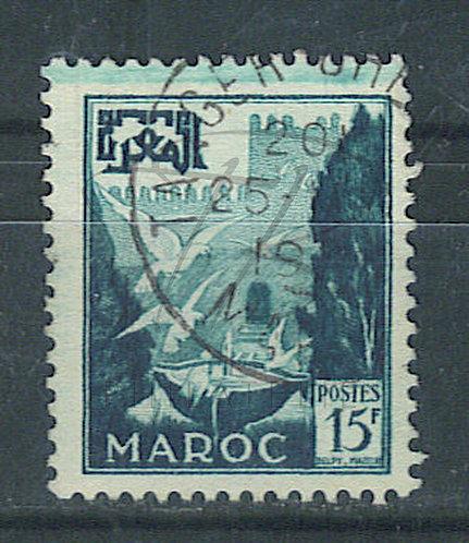 Maroc n°333 , avec maculage