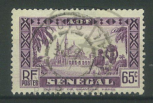 """Sénégal n°126 , cachet """"ST-LOUIS"""""""