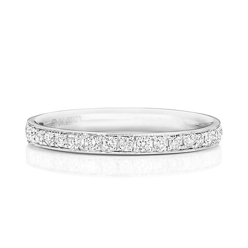 Diamond Platinum Full Eternity Ring, 0.40cts
