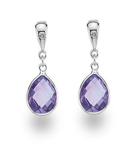 White Ice Sterling Silver Diamond Earrings DE332