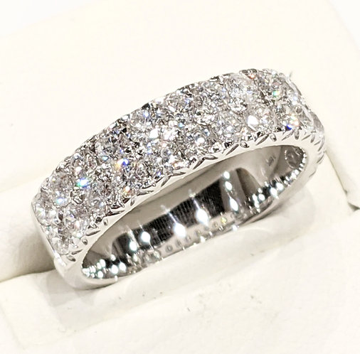 Diamond Two Eternity Ring 1.50cts, 18ct White Gold