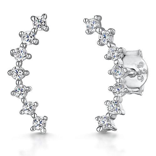 Jools Sterling Silver CZ earrings kpe2287