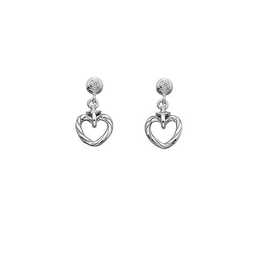 Hot Diamonds Silver Drop Willow Earrings, DE542.