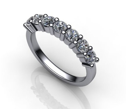 Ladies Diamond 18ct White Gold Eternity Ring 0.74cts.