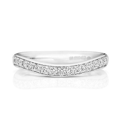 Diamond Eternity Ring 0.34cts, 18ct White Gold.
