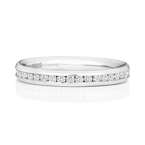Diamond Platinum Full Eternity Ring, 0.50cts
