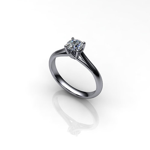 Diamond 18ct White Gold Solitaire Engagement Ring, 0.47cts.
