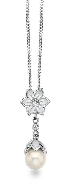 White Ice Sterling Silver Diamond Pendant DN430