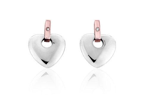 Clogau Cariad Heart Earings, 3SCE010.