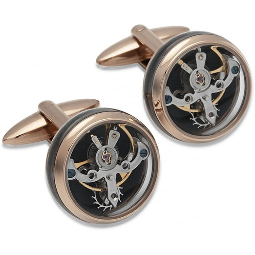 Mens Steel Watch Movement Cufflinks, QC-149.