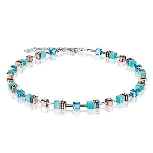 Coeur De Lion GeoCube Aqua Crystal Necklace, 4016102000.