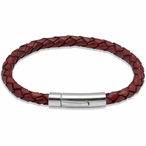 Unique & Co Mens Leather Bracelet, A40ATA.