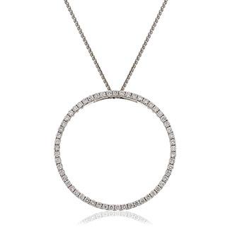 Diamond Halo Love Pendant 0.50cts, 18ct White Gold.