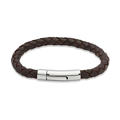 Unique & Co Mens Leather Bracelet, A40DB.