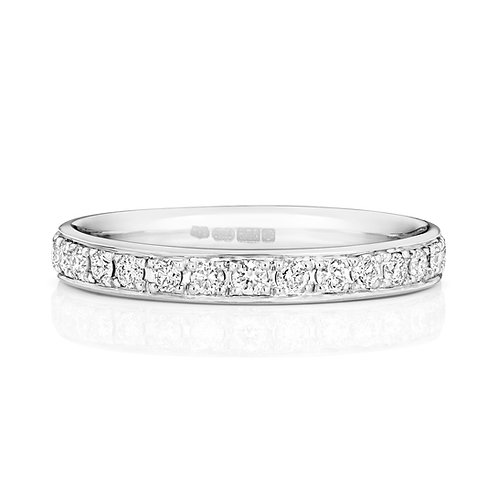 Diamond Platinum Full Eternity Ring, 0.62cts