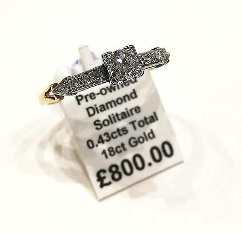 Solitaire diamond ring 0.43cts