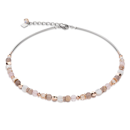 Coeur De Lion Necklace mother of pearl & Swarovski® Crystals, 4914101019.