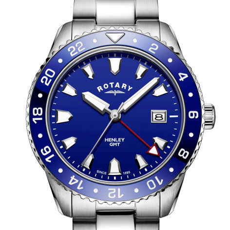 Mens Rotary Blue GMT Henley Watch, GB05108/05.