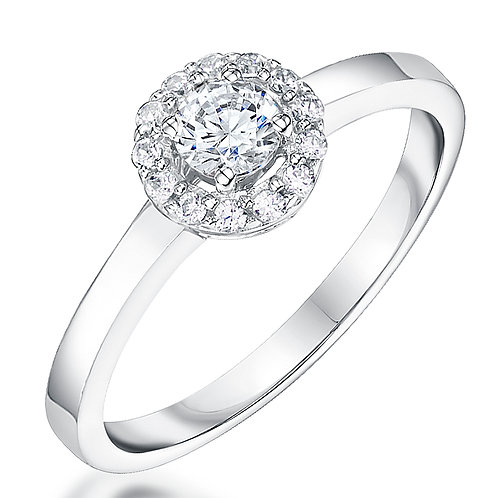 Jools Sterling Silver cz halo ring kpr10146