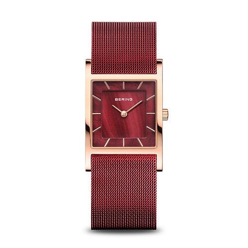 Bering Ladies Rose Gold & Red Watch Ref. 10426-363-S