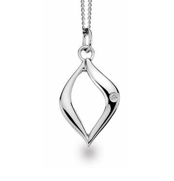 White Ice Sterling Silver Diamond Pendant DN414