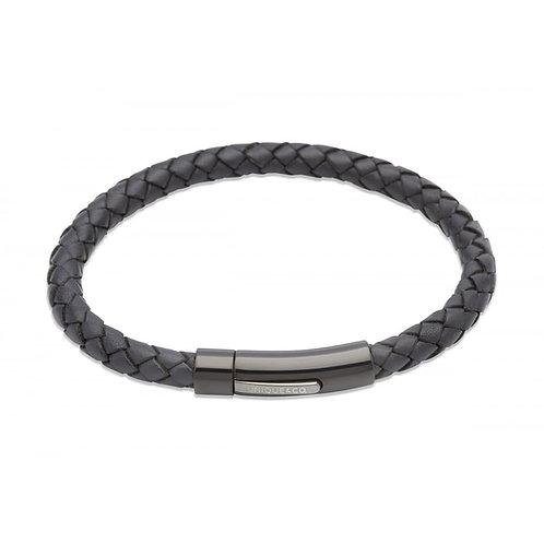 Unique & Co Mens Leather Bracelet, B320NV.