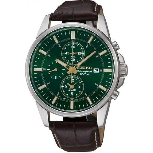 Seiko Mens Alarm Chronograph Watch Ref. SNAF09P1