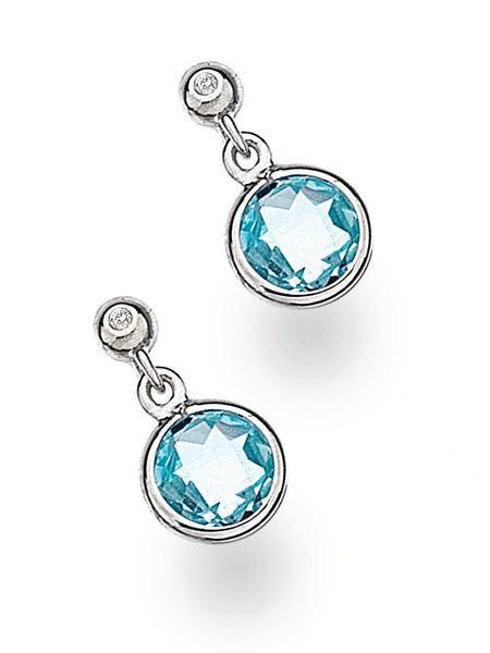 White Ice Sterling Silver Diamond Earrings DE377