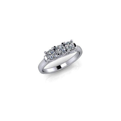 Diamond Ladies 18ct White Gold Trilogy Ring, 0.44cts.
