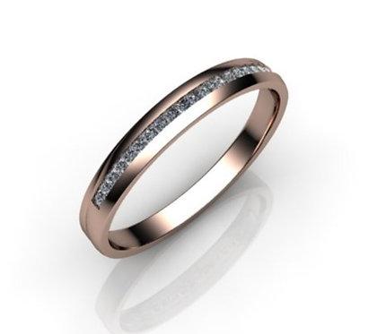Diamond Eternity Ring 0.20cts, 18ct Rose Gold.