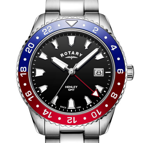 Mens Rotary Red / Blue GMT Henley Watch, GB05108/30.