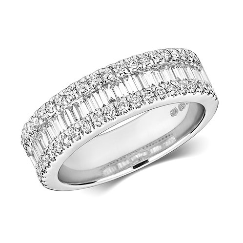 Diamond Eternity Ring 1.00cts total, 18ct White Gold.