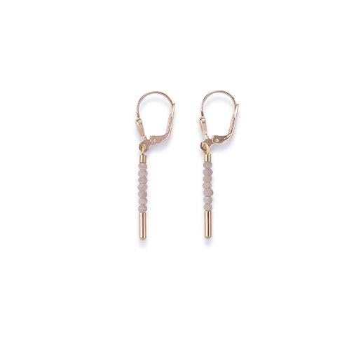 Coeur De Lion Earrings Rose Gold & Glass Nude, 4960201022.