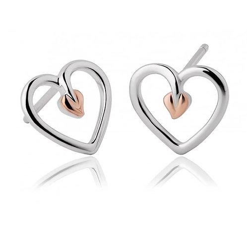 Clogau Tree Of Life Heart Earrings, 3STLHE7.